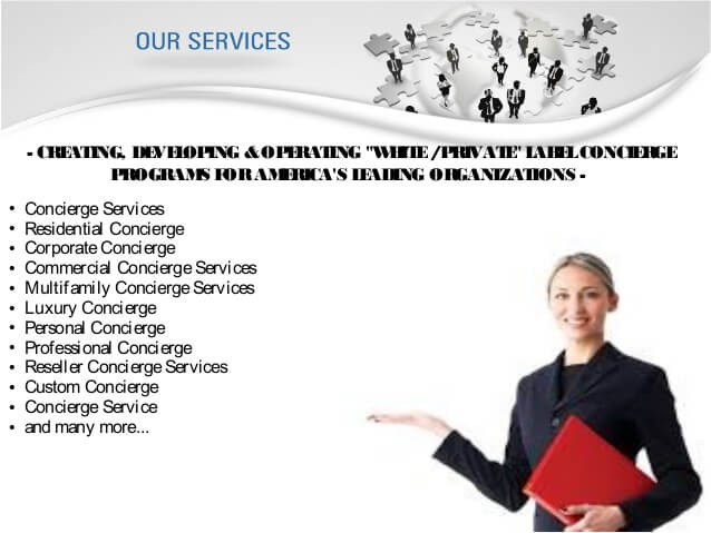 Different types of concierge services